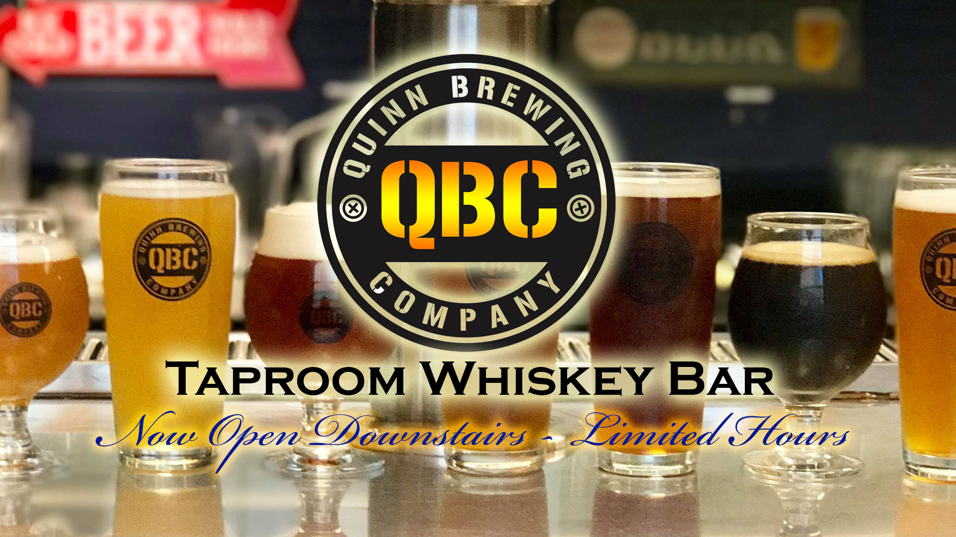 Quinn Brewing Company Taproom Whiskey Bar