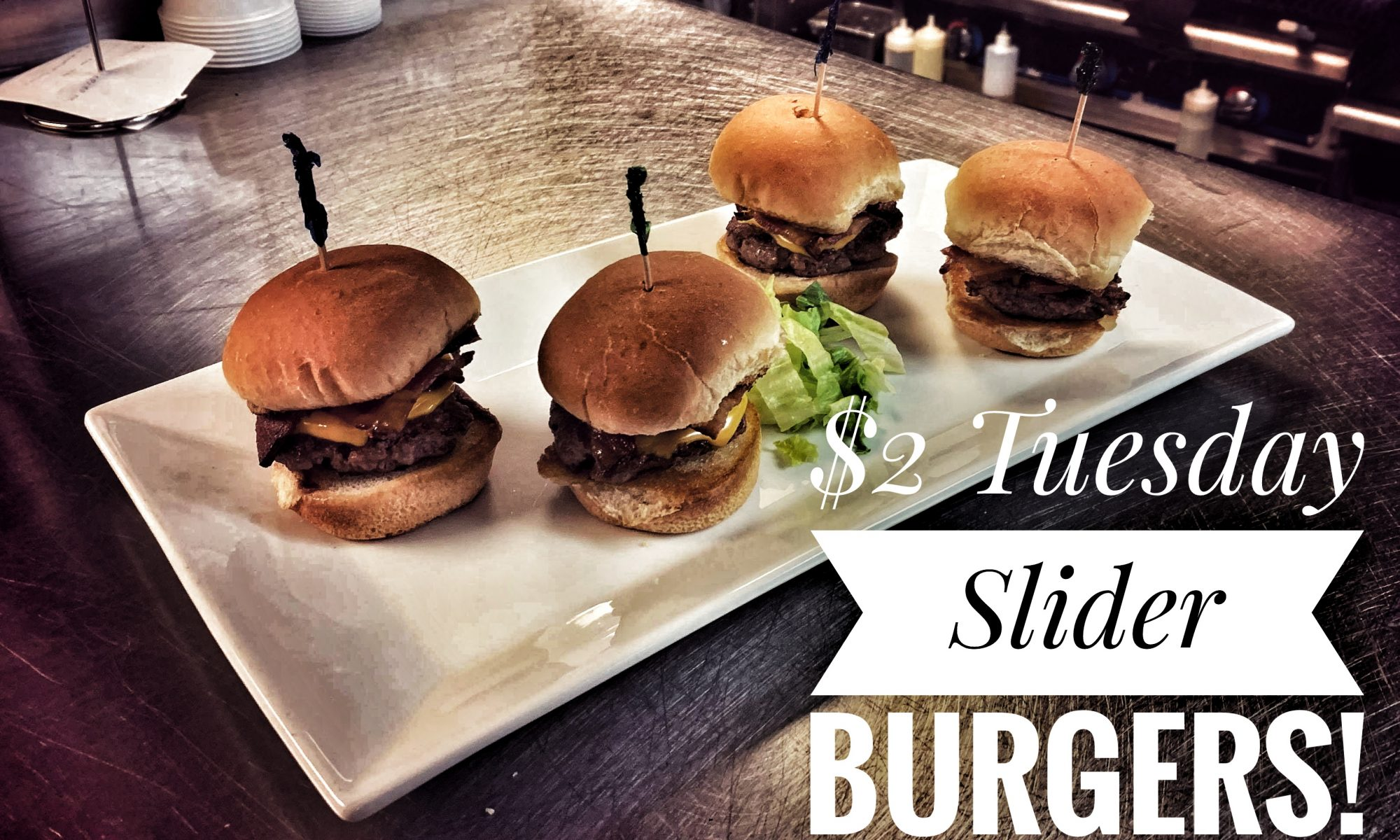 $2 Tuesday Slider Burgers