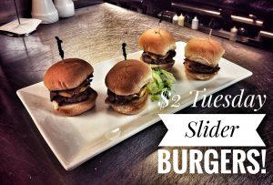 $2 Tuesday Slider Burgers
